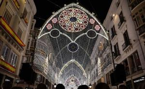 Estos son los horarios de los espectáculos de las luces de Navidad de calle Larios 2018