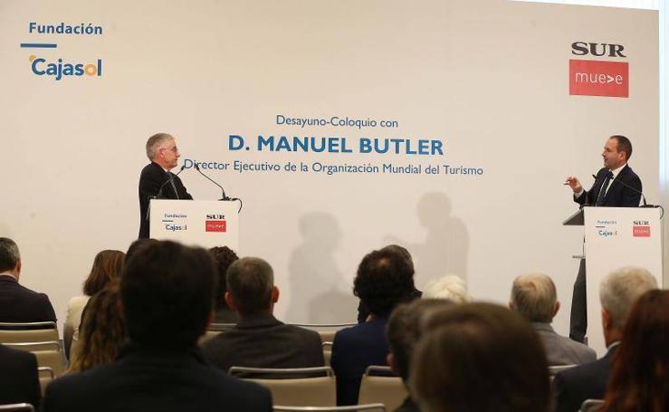 Desayuno-coloquio en Málaga con Manuel Butler, director ejecutivo de la Organización Mundial del Turismo (OMT)
