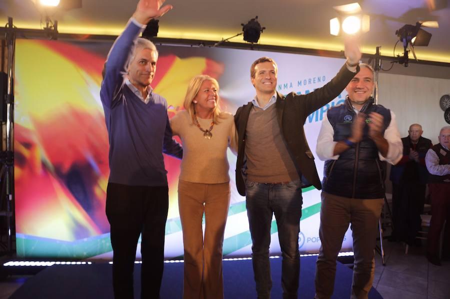 Casado en Marbella: «Todo lo que no sea votar al PP acabará en el embudo de Susana Díaz»