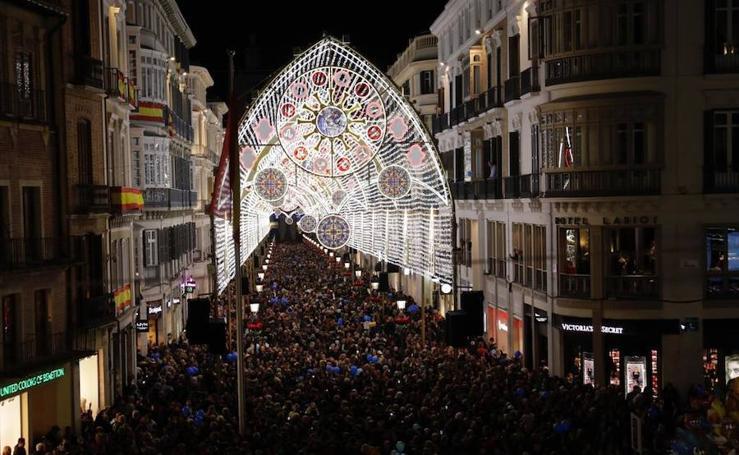 Así es la iluminación navideña en Málaga 2018