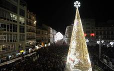 Las fotos del alumbrado navideño de Málaga 2019