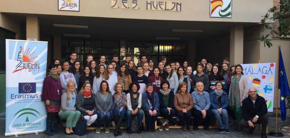 El IES Huelin, anfitrión de estudiantes en un proyecto Erasmus+ sobre patrimonio cultural