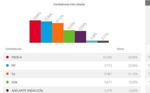 El PSOE adelanta al PP en Marbella, aunque las fuerzas a su derecha suman más del 57 por ciento de los votos