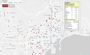 Los datos de las elecciones andaluzas, colegio a colegio