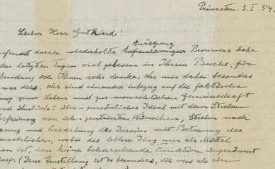 'La carta de Dios' de Einstein, vendida en subasta por más de 2,5 millones de euros