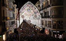 Chicago, Dubai y Moscú, deslumbrados por la iluminación de Navidad de la calle Larios