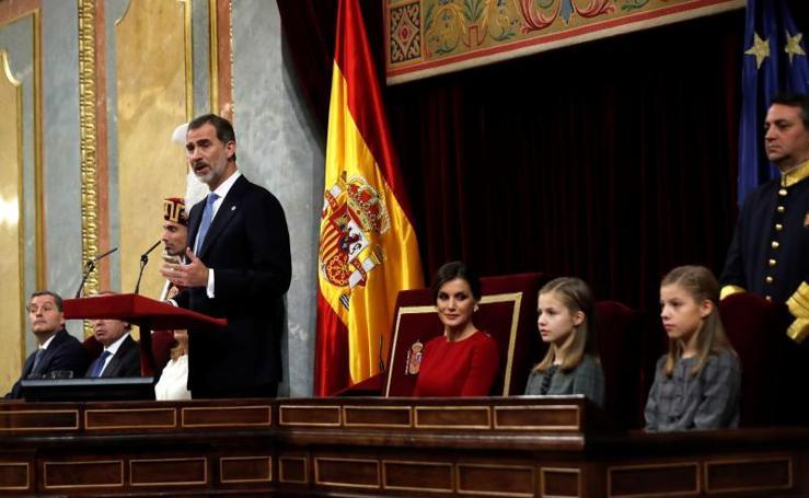 Acto conmemorativo del 40 aniversario de la Constitución en el Congreso