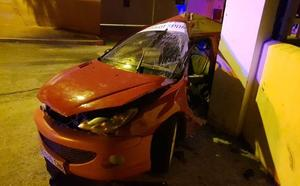 Cinco jóvenes heridos en un violento accidente de tráfico en Ronda