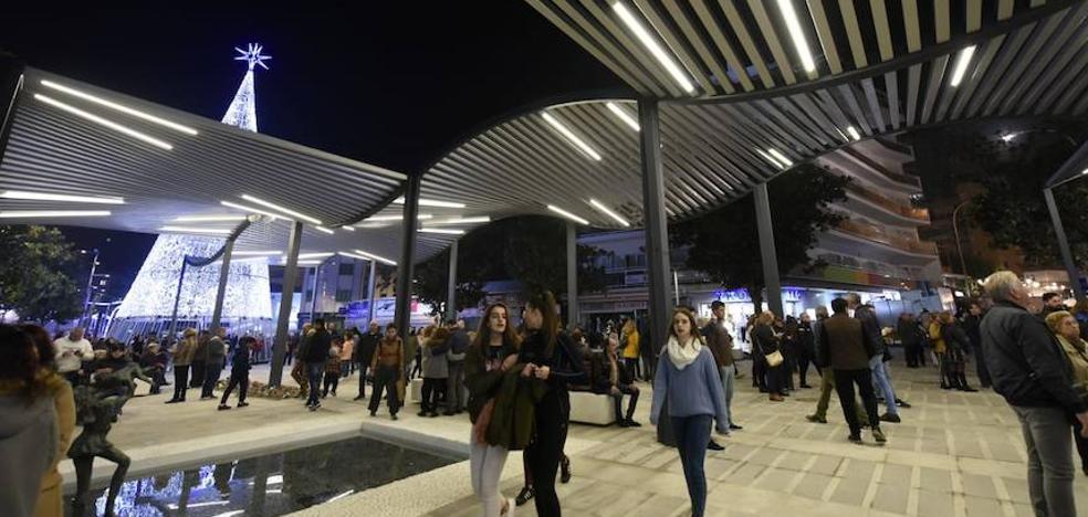 Torremolinos abre parte de su nuevo centro peatonal, que concluirá en enero