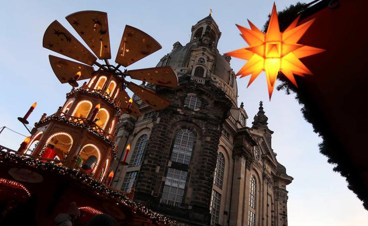 Las imágenes del mercado navideño de Dresde