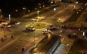 Simulacro de accidente con heridos en un vagón del metro de Málaga