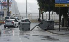 El fuerte viento provoca incidentes en toda Málaga