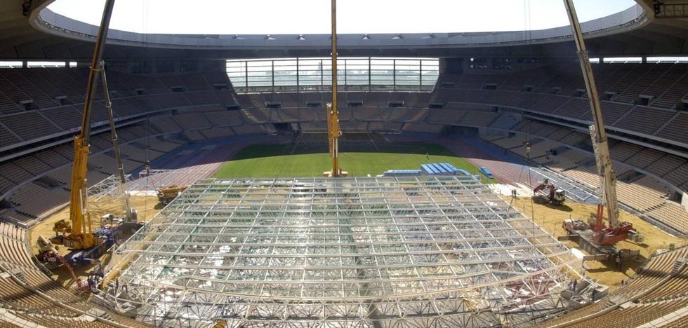 La ruina del estadio de La Cartuja