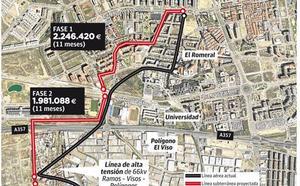 Soterrar la alta tensión en El Romeral costará más de dos millones de euros