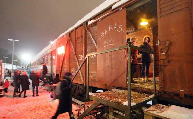 Las imágenes del mercado navideño de Vilna