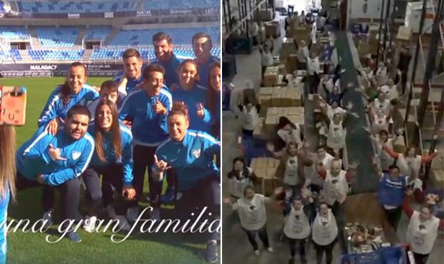 El Málaga y el Unicaja felicitan la Navidad con emotivos vídeos