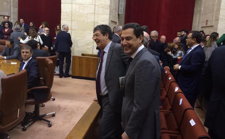Sesión constitutiva en el Parlamento de Andalucía