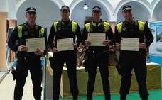 RECONOCIMIENTO A LA LABOR DE CUATRO POLICÍAS DE RINCÓN