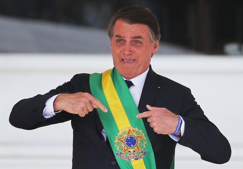 La investidura de Bolsonaro, en imágenes