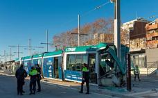 Un accidente de tranvía deja cuatro heridos en Barcelona