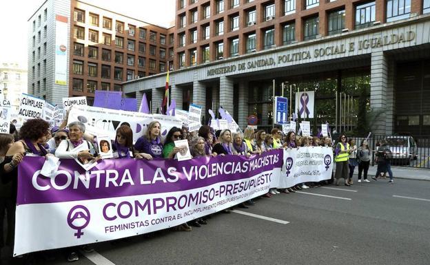 Manifestación en Madrid contra la violencia machista.