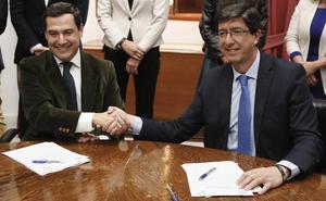 PP y Cs cierran el acuerdo de investidura en Andalucía en espera del apoyo de Vox