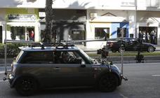La serie de Antena 3 'Toy Boy' rueda una persecución de coches por Málaga