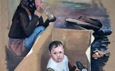 La Galería Javier Román aborda el drama de los refugiados con la pintura de Carlos Jorkareli