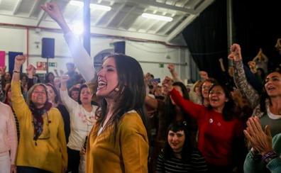 La reaparición de Irene Montero: «Hay que parar a los trillizos reaccionarios»