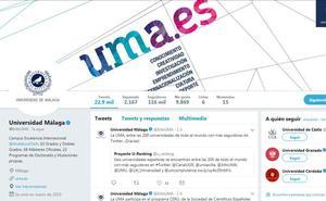 La UMA, entre las 200 universidades de todo el mundo con más seguidores en Twitter