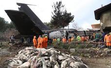 Las imágenes del accidente de avión que ha tenido lugar en Irán