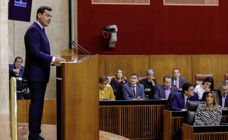 La sesión de investidura de Juanma Moreno como presidente de la Junta en imágenes