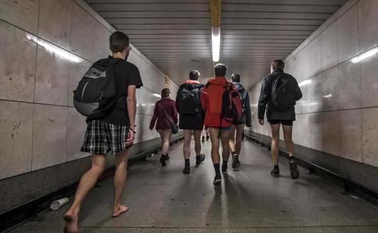 Sin pantalones por Praga