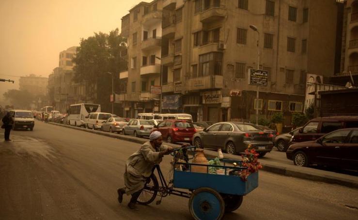 Las fotografías de la tormenta de arena en El Cairo