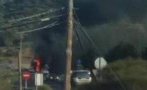 Arde un camión en la A-45, a la altura de Casabermeja