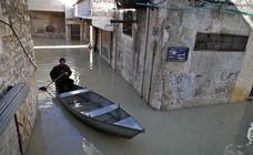 Las imágenes de la inundación por la crecida de un río en el norte de Siria