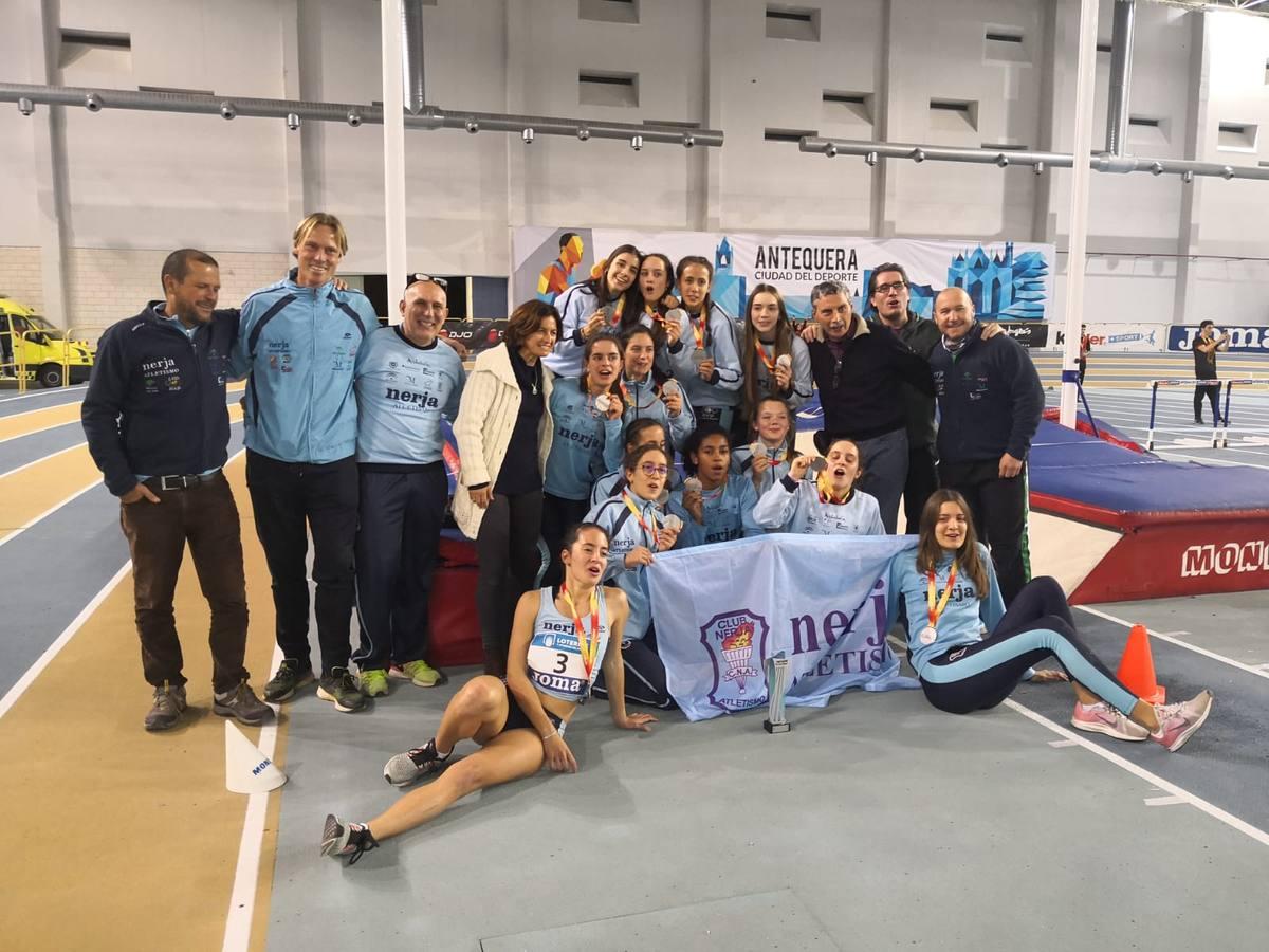 El equipo femenino del Nerja Atletismo, subcampeón de España sub-20