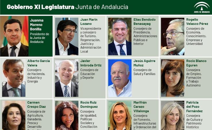 Estos son los consejeros del nuevo Gobierno de Juanma Moreno