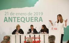 Susana Díaz lanza guiños a Pedro Sánchez para fortalecerse y exige unidad al PSOE