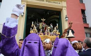 La Cofradía de la Pollinica callejeará hasta la plaza de Félix Sáenz para hacer tiempo antes del recorrido oficial