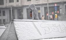 Las imágenes de la nevada en Bruselas