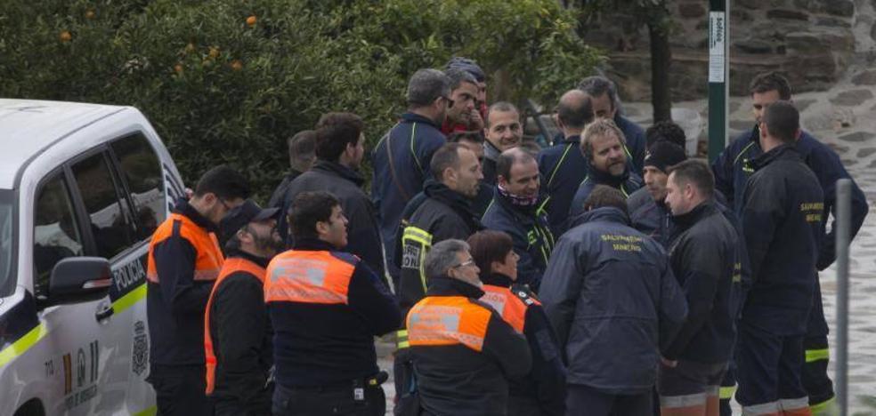 Los mineros asturianos en Totalán: «Estamos preparados para salir en cuanto nos digan»
