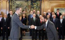 Mario Cortés, en su faceta de decano nacional, se entrevista con el Rey