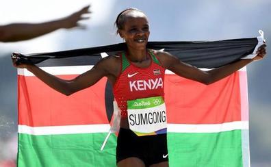Jemima Sumgong, campeona olímpica de maratón, suspendida ocho años por mentir en un control