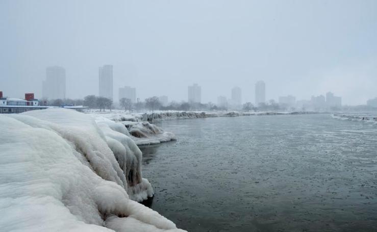 Las imágenes del vórtice polar en Chicago