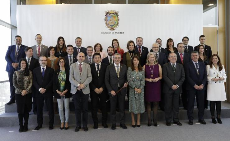 Pleno extraordinario para la investidura del nuevo presidente de la Diputación de Málaga