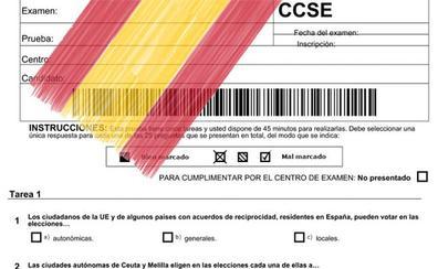 ¿Aprobarías el examen para poder tener la nacionalidad española?