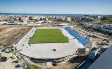 La obra del estadio de atletismo entra en la recta final con el césped y la grada