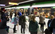 El metro de Málaga supera por primera vez en 2018 los seis millones de usuarios, con un incremento del 9,75%