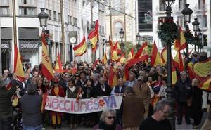 Marcha en Málaga contra Sánchez y para pedir elecciones
